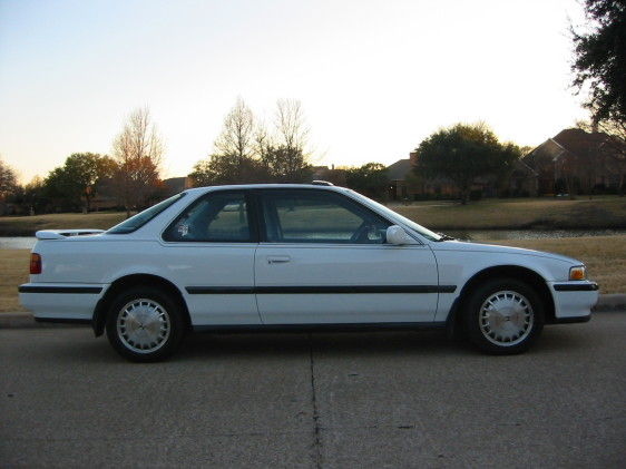 Honda Accord White on 1991 Honda Accord 2 Door